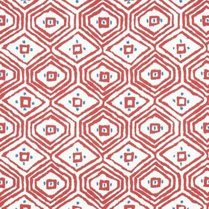 Thibaut Pass-A-Grille Linen in Red