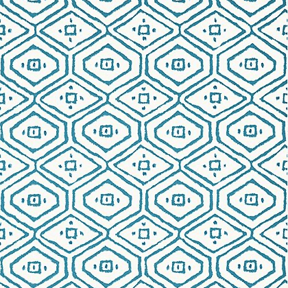 Thibaut Pass-a-Grille Wallpaper in Turquoise