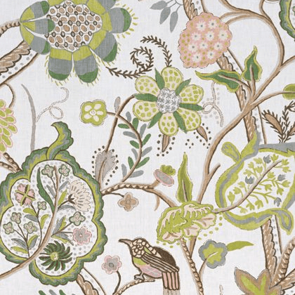Thibaut Windsor Fabric in Brown and Green