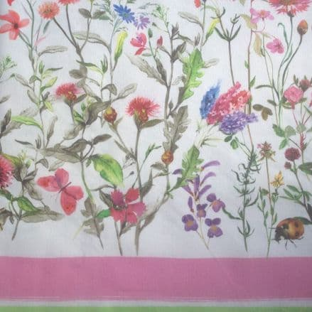 Wild Flower Border Extra Wide Oilcloth
