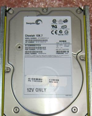10 x Seagate ST3300007FCV 300GB 10K FC Fibre Channel Hot plug Hard Disk Drive