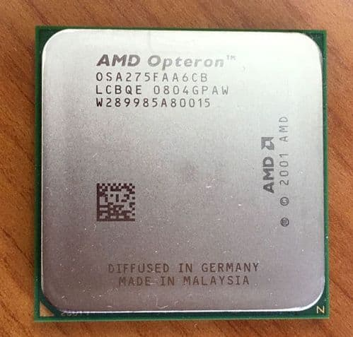 2 AMD Opteron OSA275FAA6CB 2.2GHz Dual Core Processor CPU For Servers Socket 940