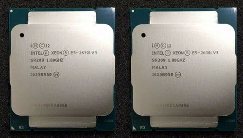 2 Intel Xeon E5-2630L V3  E5-2630Lv3 Eight Core 1.80GHz 20MB Processor CPU SR209