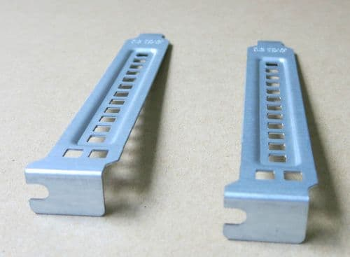 2 x Dell Precision PowerEdge PCI Blank Slot Cover Full height DD463 bracket