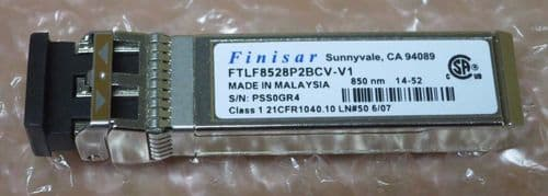 2 x Finisar FTLF8524P2BCV-N1 1GB 850NM 500M FC SFP Optical Transceiver Module