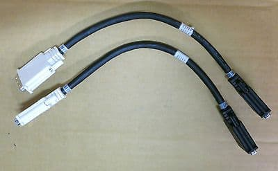 2 x IBM Splitter Cable Dual DVI Male To Female 00N6952