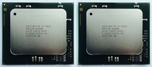 2 x Intel E7-4860 2.26GHz Turbo 2.66GHz 6.4GT/s 10 Core 24MB SLC3S CPU Processor