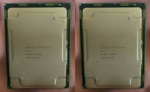 2 x Intel Xeon Gold 6148 Twenty-Core 2.40GHz Server CPU Processor SR3B6 LGA3647 - 202898283324