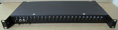 24-Port 1U Rackmount Fiber Patch Panel Black, Rack, Chassis Network Equipment