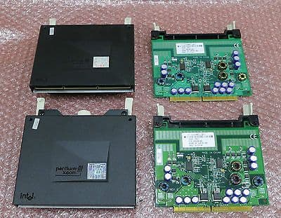 2x Intel Pentium 3 Xeon Processor 500MHz SL3CE With 2x Power Modules 320328-001