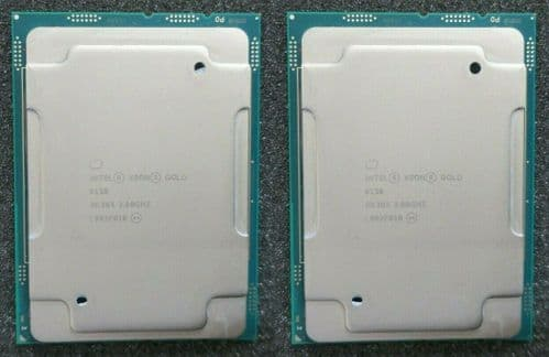 2x Intel Xeon Gold 6138 20-Core 2.0GHz Server CPU Processor 27.5MB SR3B5 LGA3647