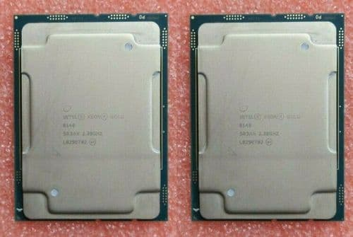 2x Intel Xeon Gold 6140 18Core 2.3GHz Server CPU Processor 24.75MB SR3AX LGA3647