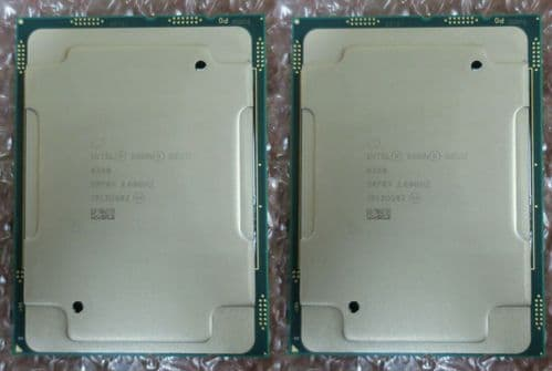2x Intel Xeon Gold 6240 18Core 2.6GHz Server CPU Processor 24.75MB SRF8X LGA3647