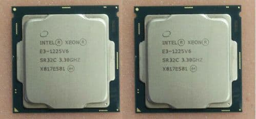 2x Intel Xeon Quad Core E3-1225V6 8MB 3.30GHz Server Processor CPU SR32C LGA1151