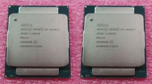 2x Intel Xeon Six Core E5-2620v3 2.40GHz 15M Cache LGA2011-3 CPU Processor SR207