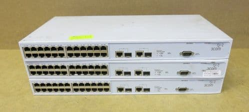 3 x 3Com SuperStack 24 Port Network switch 3226 3CR17500-91 175009-110-000-2