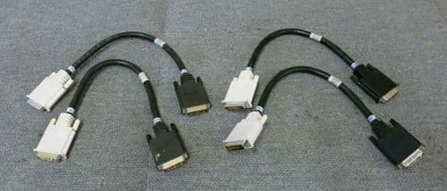 "4 x IBM 00N6952 00N7003 eServer xSeries DVI Male to Male 15"" 1FT Chain Cable"