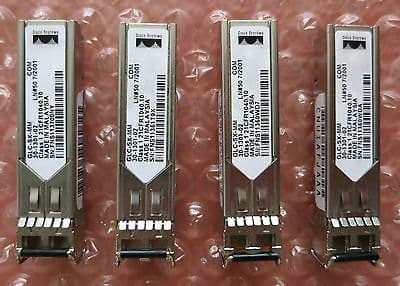 4 x Original Cisco GLC-SX-MM 1000-Base SX SFP 30-1301-02 QFBR-5766LP