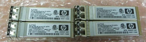 4x HP AJ716A 8Gb Shortwave Fibre Channel SFP+ Transceiver 8Gbps SW FC 468507-001
