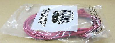 6 x NEW Belkin Red Cat5E UTP Snagless Patch Cable 2m - A3L791B02M