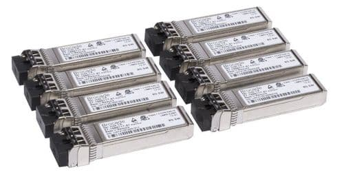 8 x Brocade 57-1000117-01 8GB LC SW SFP Fibre 850nm Transceiver Modules
