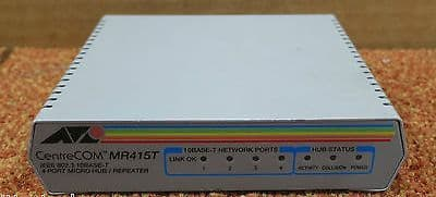 ATI Allied Telesyn International CentreCOM MR415T 4-Port Micro Hub / Repeater