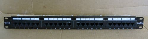 Belkin 24 Port CAT5e  RJ45 Ethernet Network Patch Panel T568A&B Wiring
