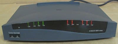 Cisco 801 ISDN Ethernet Wired Network Router Cisco 800 Series