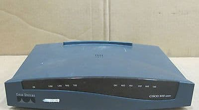 Cisco 801 Intergrated Services - Ethernet ISDN Network Wired Router