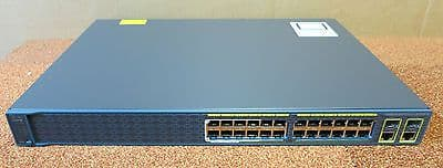 Cisco Catalyst WS-C2960-24LC-S 24 Port Managed Fast Ethernet Network Switch