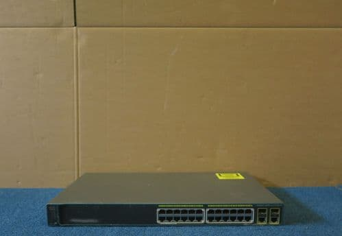 Cisco Catalyst WS-C2960-24PC-L 24 Port 10/100 PoE  2 xSFP Layer2 Network Switch