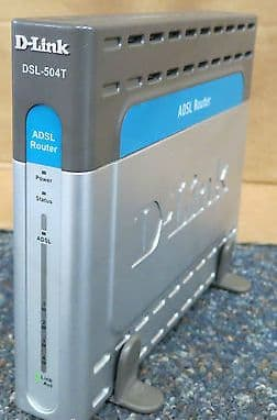 D-link DSL-504T ADSL Router With Built In 4-Port Switch DSL-504T/UK With Stand