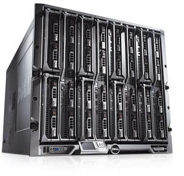 Dell PowerEdge M1000E Blade Enclosure with 8 x M600 4 core 3.33GHz Blade Servers