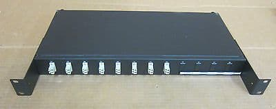 Fibre Channel 8 / 16 - Port Rack Mount Black Patch Panel - Fibre Optic Network