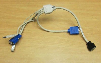 Fujitsu KVM CABLE RSB-IO MILLED A3C40073895 A3C40073896 for BX600 Series Chassis