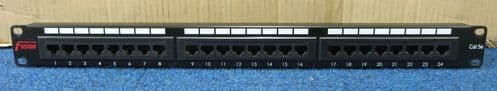 Fusion 24 Port CAT5e Category 5e RJ45 Ethernet Network Patch Panel T568B