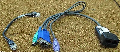 IBM KVM VGA/PS2 250mm Conversion Cable with 6' Cat5 Ethernet Patch Cable,26K4178