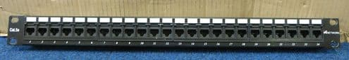 IC Networks 24 Port CAT5e RJ45 Ethernet Network Patch Panel T568A T568B Wiring
