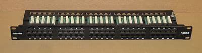 Maxxam Voice 1U 50-Port Patch Panel RJ45 Communications Network