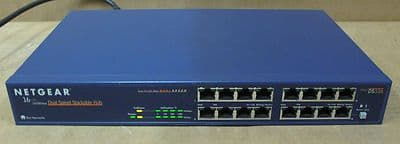 Netgear DS516 16-Port 10/100Mbp/s Dual Speed Stackable Hub,Networking Equipment