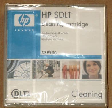 New Sealed HP SDLT Tape Drive Head Cleaning Cartridge - C7982A