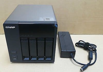 QNAP Network Attached Storage TS-412 52200-000612-RS 4TB HDD NAS & Power Adapter