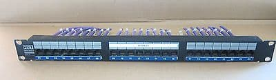 RiT Smart Giga 24, Enhanced CAT 5, 1U Rack Mount 24 Port Patch Panel