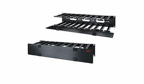 """APC AR8606 Horizontal Cable Manager 2U x 6"""" Deep Single-Sided with Cover"""