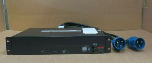 APC Rackmount Automatic Transfer Switch AP7725 Redundant 2U 32A 240V IEC309 ATS
