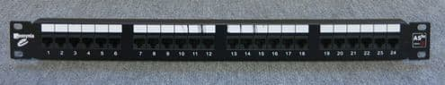 "Assynia AS5E-PP24 1U 24 Port 19"" Cat5e RJ45 Data Network Patch Panel"