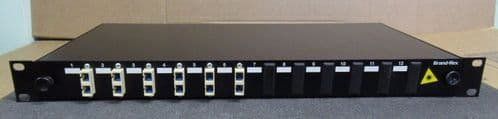 Brand-Rex 12 Port Optical LC single Mode 6 Way Fibre Patch Panel 1U
