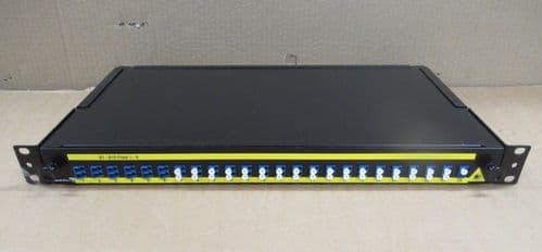 "Brand-Rex 1U Fibre Optic Patch Panel 19"" 24 Port LC Rack Mount Business Network"