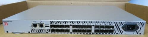 Brocade 300 BR-320-0008 24-Port 8GB Fibre Channel SAN Switch 16 Ports Active