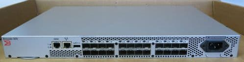 Brocade 300 BR-320-0008 24-Port 8GB Fibre Channel SAN Switch 8 Ports Active